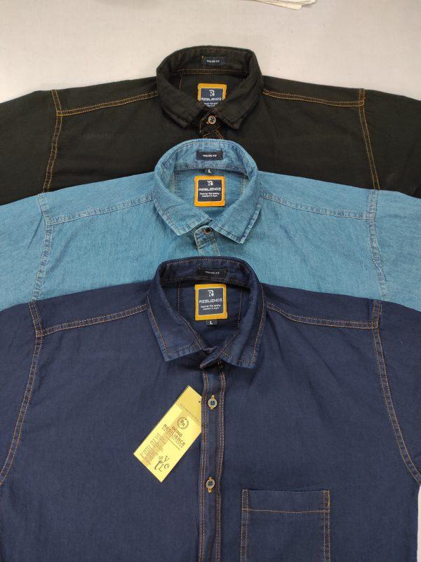 Single pocket shirt factory cotton denim